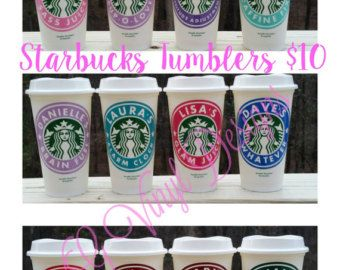 Personalized Starbucks Cup Great Teacher Gift by ChippyChicVintage