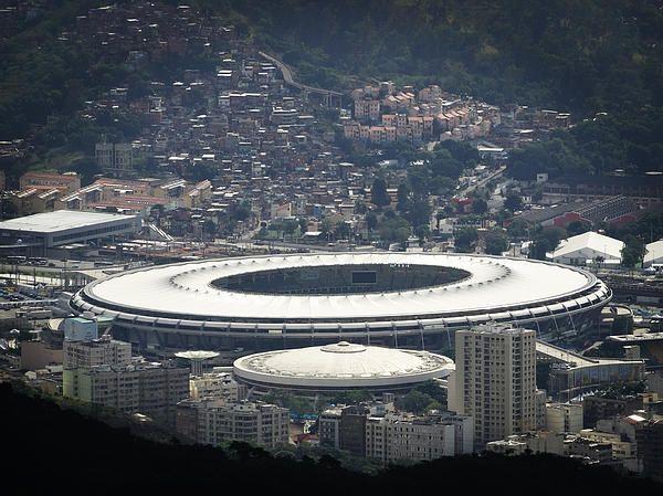 Maracana - Photo taken of Maracana stadium, from the Corcovado in Rio de Janeiro, Brazil