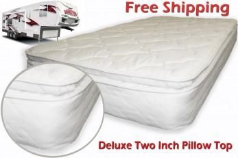 RV Mattress Orthopedic Innerspring Medium Firm Pillow Top 60 x 74 Short Queen RV Mattress Soft Dreamer Deluxe 2 Inch Pillow Top 60 x 75 competitive priced Replacement RV mattresses that can be installed in minutes Free Shipping. THIS MATTRESS WILL FIT BOTH 60 X 74 AND 60 X 75 MATTRESS AREA.  ...