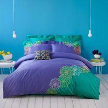 4 Pcs100 % algodão rainha cama conjuntos de roupa de cama de luxo bordado capa de edredão fronhas folha(China (Mainland))