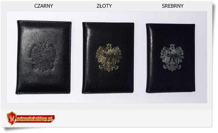 Skórzany służbowy portfel z Orłem w koronie