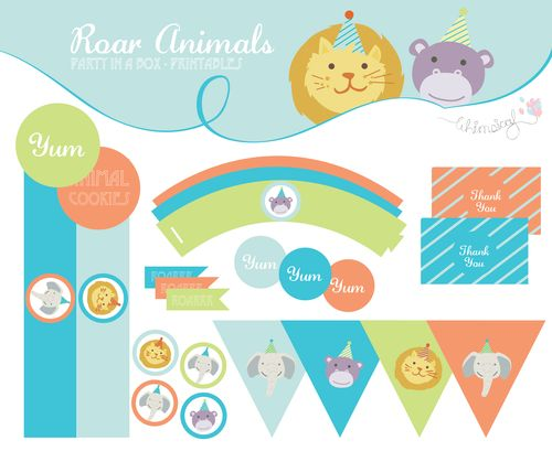 ONLINE STORE - Animal Printables -Party in a box-  http://awishawaywhimsical.blogspot.com/p/online-store_8.html#!/~/category/id=8462431&offset=0&sort=normal