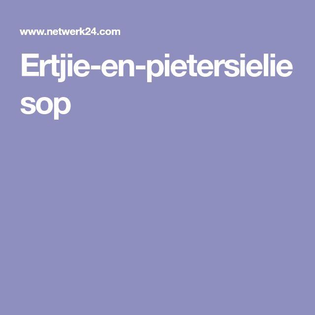 Ertjie-en-pietersieliesop
