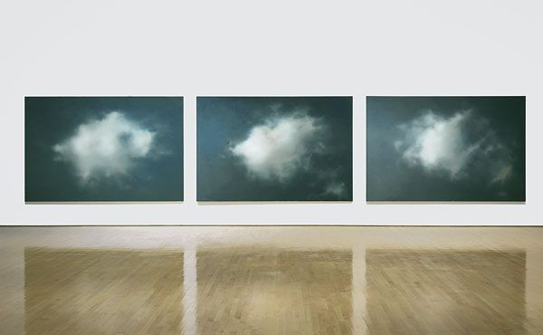 RICHTER, clouds, oil paintings.