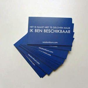Visitekaartjes voor werkzoekenden - Creatief solliciteren https://www.pinterest.com/vacatureluurs/creatief-solliciteren/