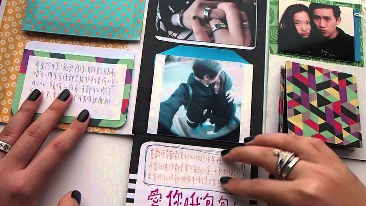 DIY Mini Album / Scrapbook for boyfriend 2014