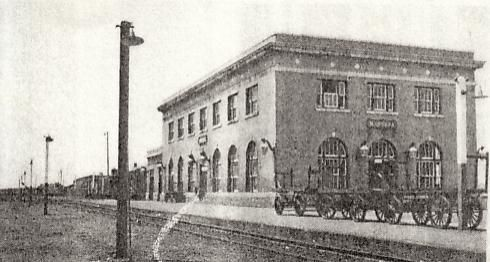 The joint station in Massena, NY used by the New York Central and Canadian National Railways