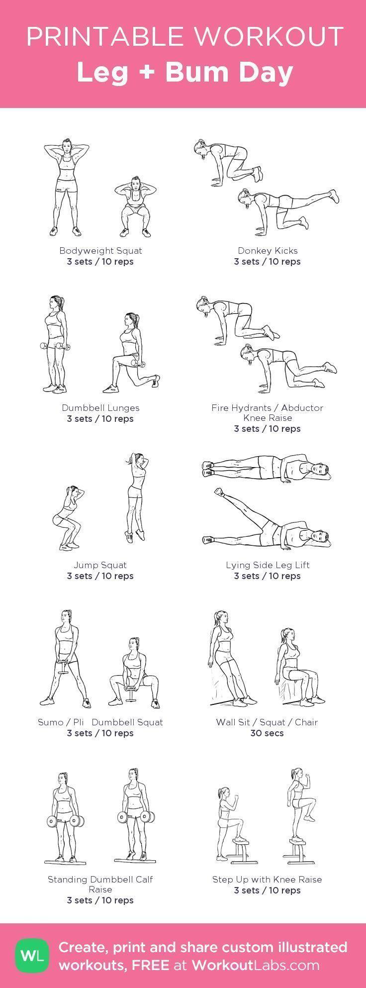 nice Leg   Bum Day Workout #fitspiration | Health & Fitness | Pinterest | Workout Exe...