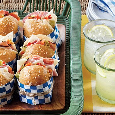 Make these Mini Muffulettas the day before the game and wrap in craft paper and twine for mess-free munching.