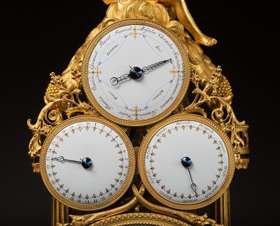 c1800 François-Joseph Hartmann - Exceptional Mutli-dial automaton skeleton clock