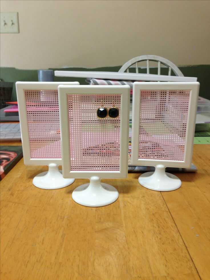 Ikea hack - earring holder-- yep making this for all of Gracie's ear rings