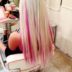 If I did this I want this color pink but not that light of blonde