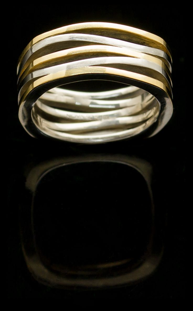 Sterling Silver ring with 18k Yellow Gold.  Nova Collection Chiang Mai etsy.me/1wGyCtb