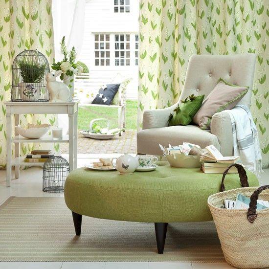 fresh green living room 6