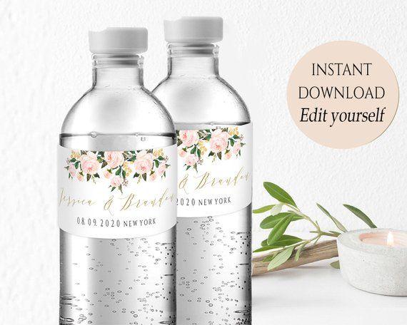 Water Bottle Label Printable Wedding Water Bottle Labels Etsy In 2021 Wedding Water Bottle Labels Printable Water Bottle Labels Wedding Wedding Water Bottles
