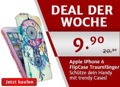 Deal der Woche: Das Apple iPhone 6 FlipCase mit farbenfrohem Traumfänger Design für CHF 9.90. Nur diese Woche und nur auf www.yourmobile.ch!