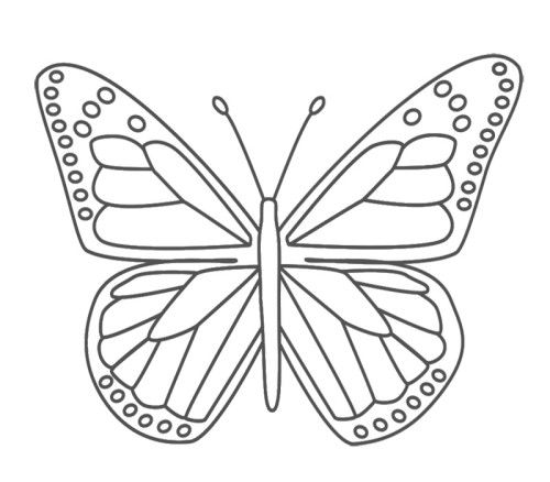 Nice Butterfly Coloring Pages For Kids Butterfly