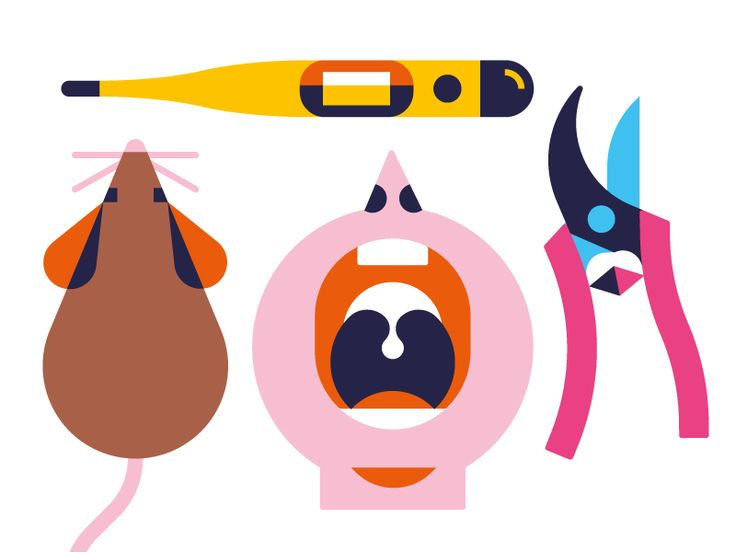 Selection of some spot illus I created for a public health website.  More about this project.
