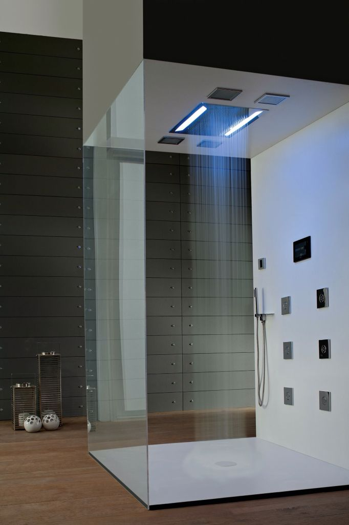 Shower with LED lights