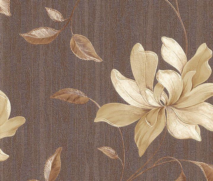 Rasch elegance bellisima vinyl wallpaper chocolate 511062 for Opus wallpaper range