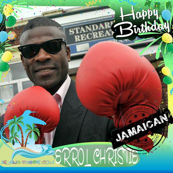 Happy Birthday Errol Christie!!! U.K. Boxing champ born of Jamaican descent!!! Today we celebrate you!!! #errolchristie #islandpeeps #islandpeepsbirthdays #ukboxing #itv #boxing #champ #knockout #jamaican