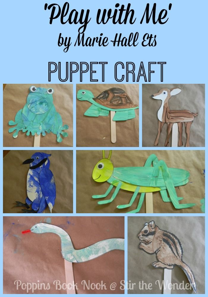 'Play with Me' Puppet Craft   Stir the Wonder #poppinsbooknook #kbn #bfiar