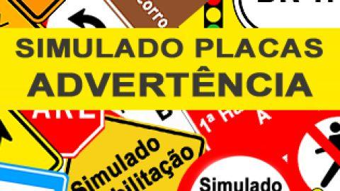 Simulado Placas de Advertência