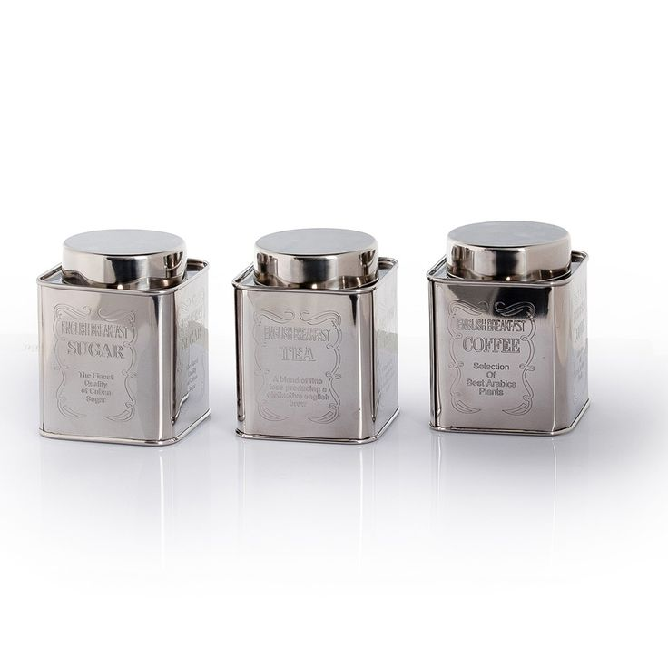 Buy Tea, Coffee & Sugar Canister Set | Divertimenti