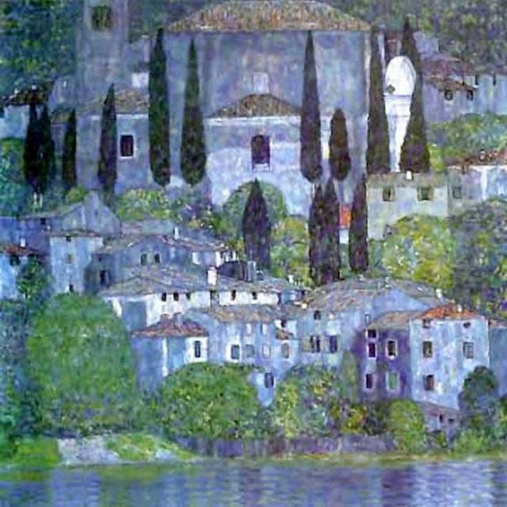 Gustav Klimt - La chiesa a Cassone (1913) , custodito a Roma nella Galleria Nazionale d'Arte Moderna di Roma