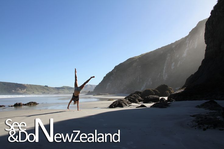 This stunning beach is right at the bottom of New Zealand near Dunedin. There are beautiful white sandy beaches - often visited by seals, penguins and giant albatross birds!