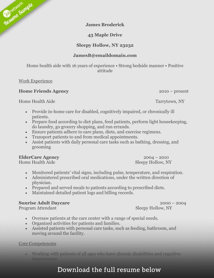 Home health aide resume description unique how to write a