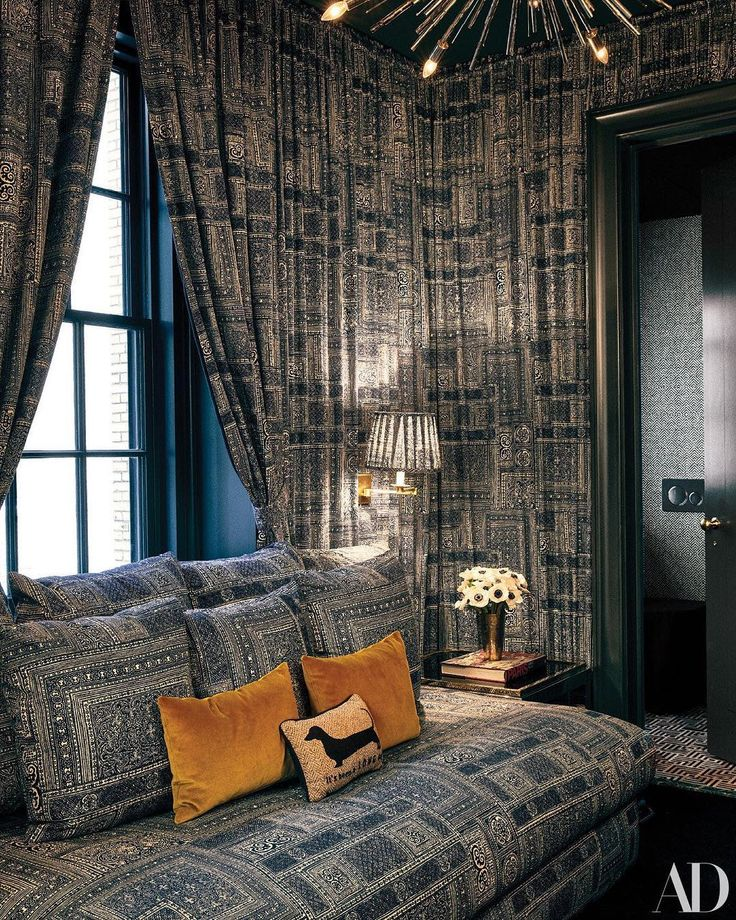 """Ralph Lauren Home on Instagram: """"The """"Gossip Room"""" of @derekblasberg's NYC apartment swathed in ..."""