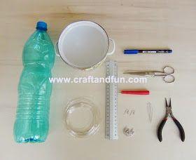 Riciclo Creativo - Craft and Fun: Riciclo Creativo Bottiglie di Plastica: Orecchini Fai Da Te