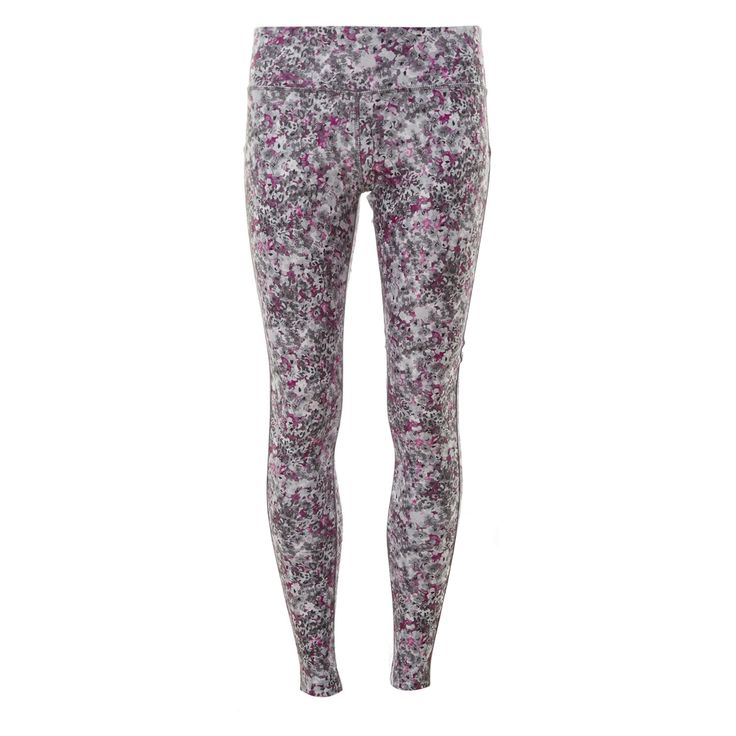 """MPG"" Grey & Fuchsia Floral Sports Leggings - TK Maxx £19.99"