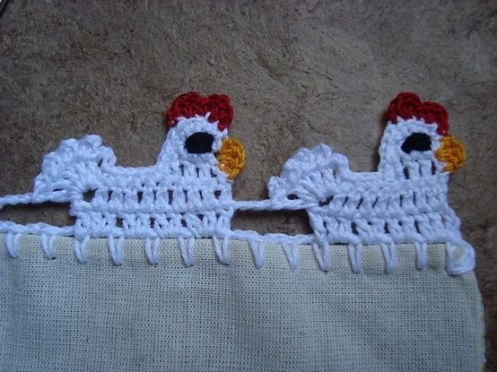 Crochet Chicken Lace Trim Pattern Picture Tutorial Project » The Homestead Survival