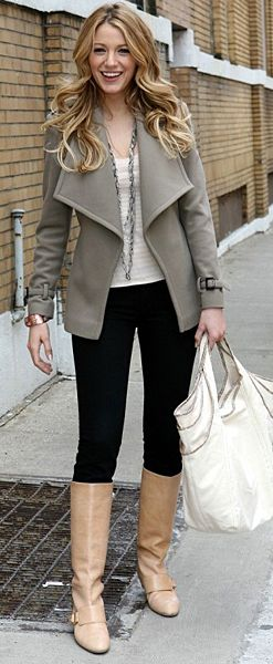 My dislike of Blake lively and her man voice almost made me not repin this but I actually really like the outfit