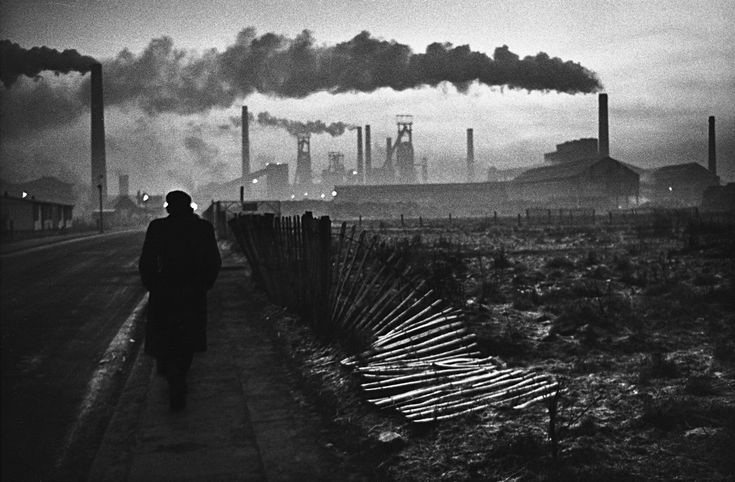 Don McCullin, Early morning, West Hartlepool, 1963. Donald McCullin is an internationally known British photojournalist, particularly recognized for his war photography and images of urban strife. Wikipedia