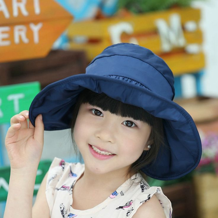 2017 5-12Year Wide Brim Beach Sun Hat Children Foldable Visor Cap Girls Chapeu Feminino kids Anti-UV protection hats ZXM-JY-274B