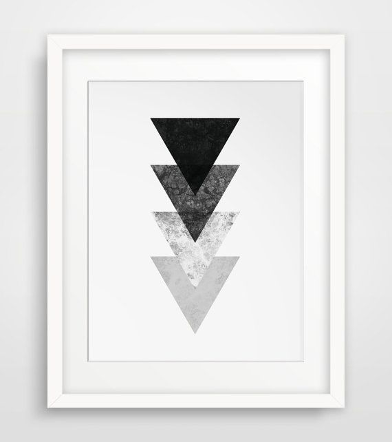 Black and White Geometric Marble Wall Art - Printable Decor - Scandinavian Printable Artwork, perfect for the minimalist home or office. NO