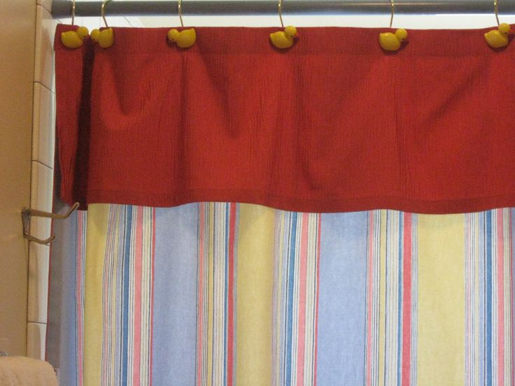 17 Best Images About Fabric Shower Curtains With Valance On Pinterest