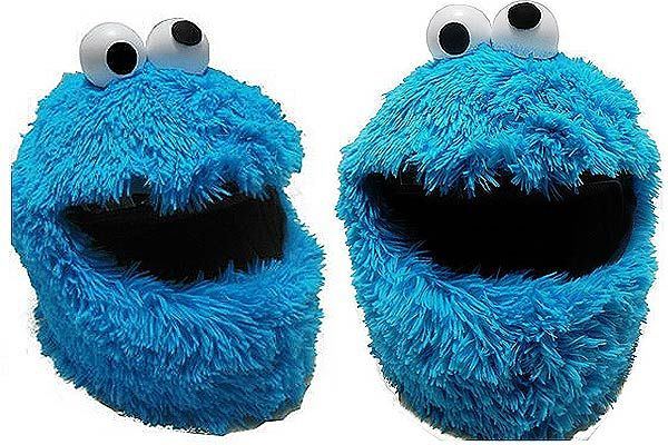 Cookie monsters motorcycle helmet