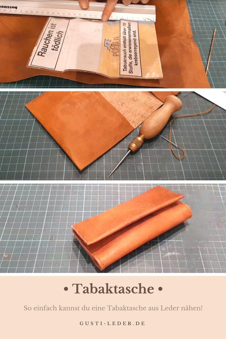 So einfach kannst du eine Tabaktasche aus Leder selber nähen