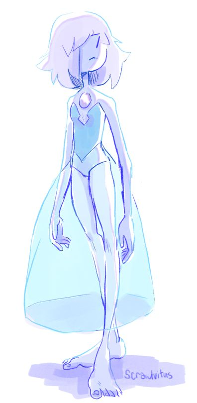 This picture confused me so much until I realized those two lines on her face was her nose. Steven Universe blue pearl