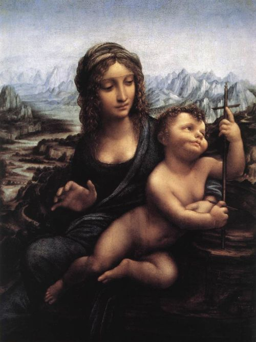 Madonna With The Yarnwinder - Leonardo da Vinci, c. 1510