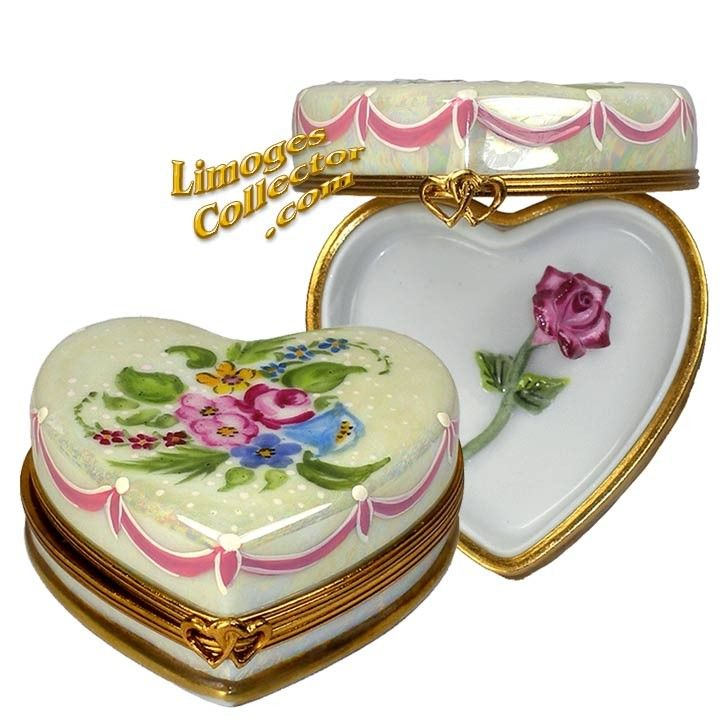 Floral Heart with Rose Limoges Box