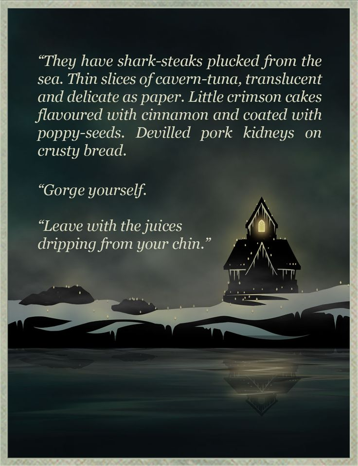 Hello, delicious friends — What are your favourite lines from Sunless Sea?