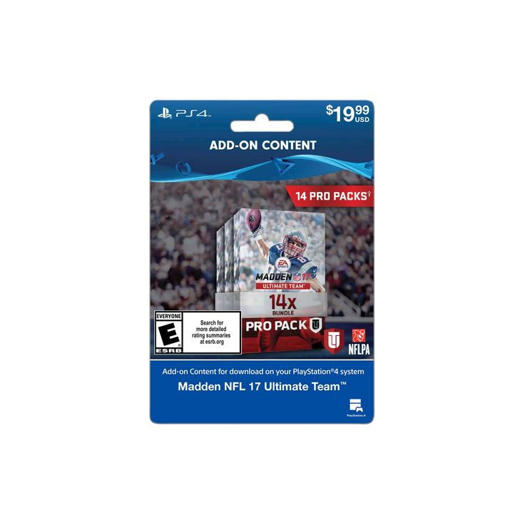 PlayStation 4 Madden NFL 17-14 Pro Pack Bundle $19.99 - Email Delivery