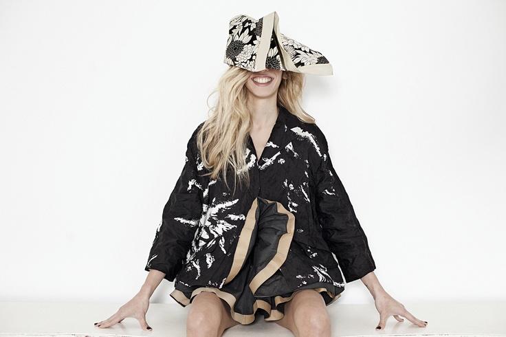 Jacket, miumiu.com, luisaworld.com, shorts, hat, yiorgoseleftheriades.gr.