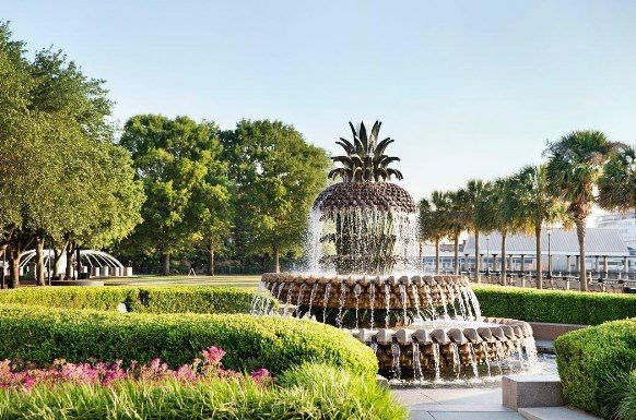 ***Pineapple Fountain in Waterfront Park, Charleston, SC