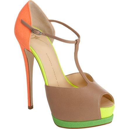 giuseppe zanotti colorful heels fashion